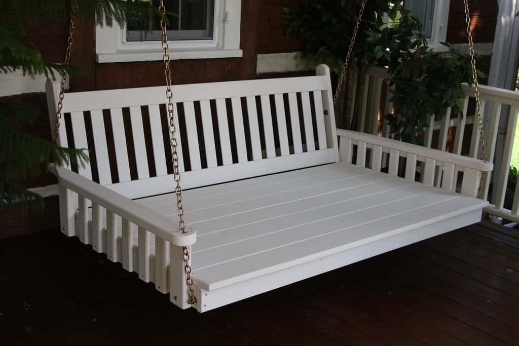 porch swinging bed