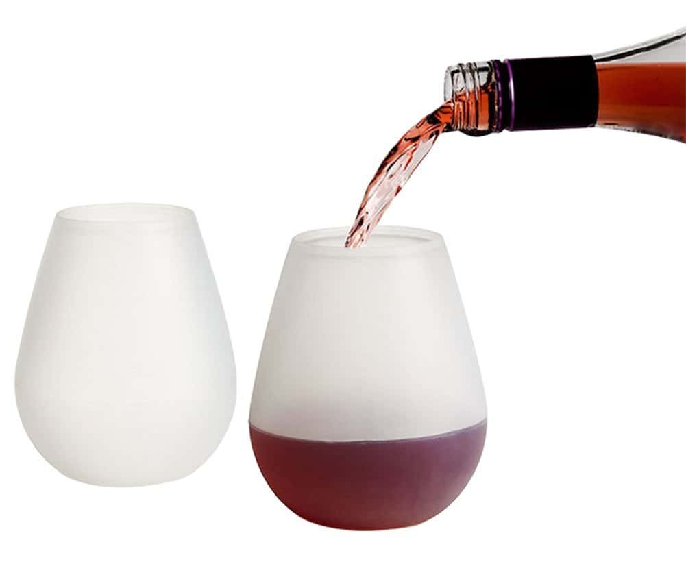 silicon wine glass