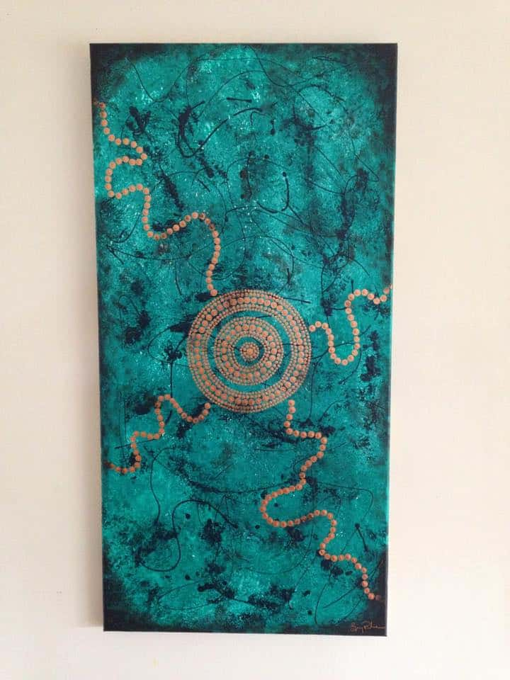 aboriginal art blue