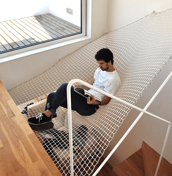 cool indoor hammock
