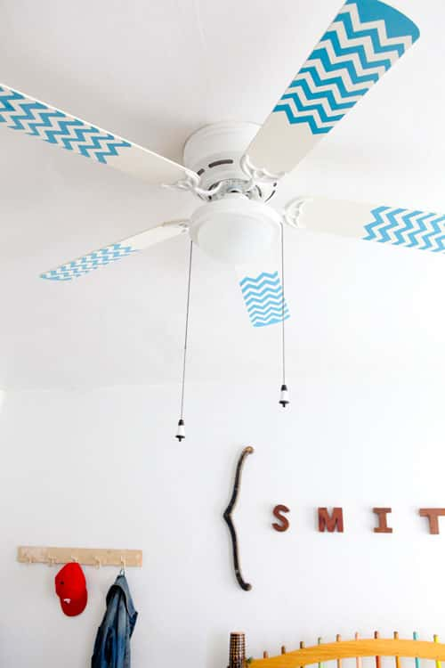 painted ceiling fan