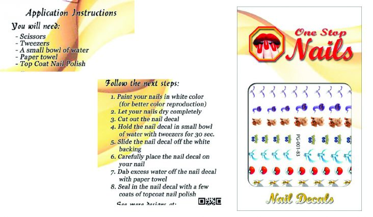 nail decal instructions