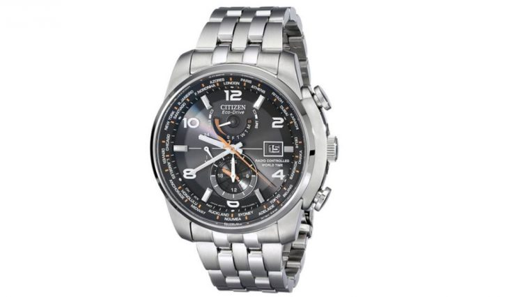 silver citizen watch mens