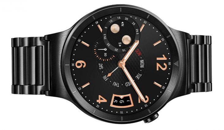smartwatch black gold