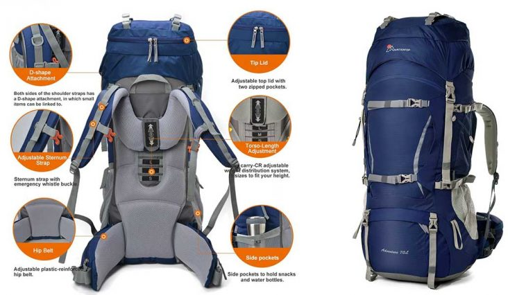 versatile outdoor backpack