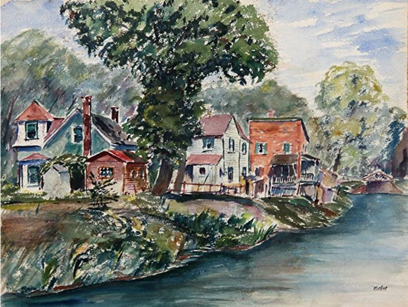 lakeside-houses-painting
