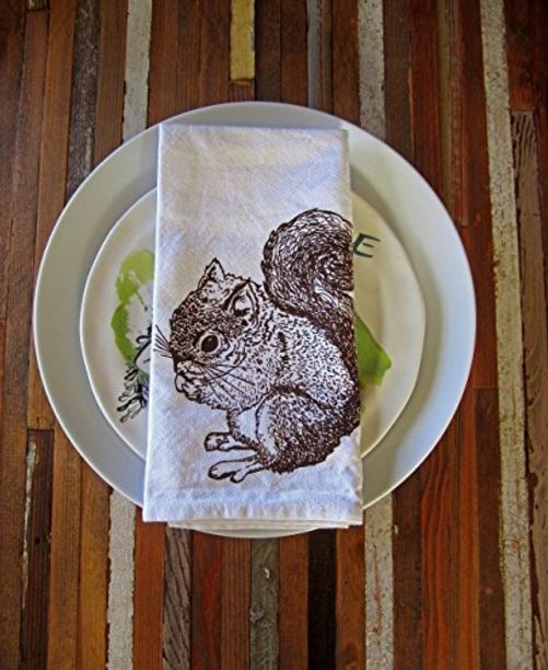 brown squirrel napkins