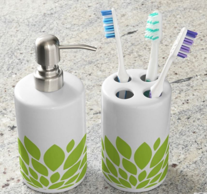 green-bathroom-set