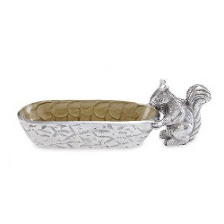 silver squirrel tray