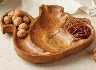 wooden squirrel platter