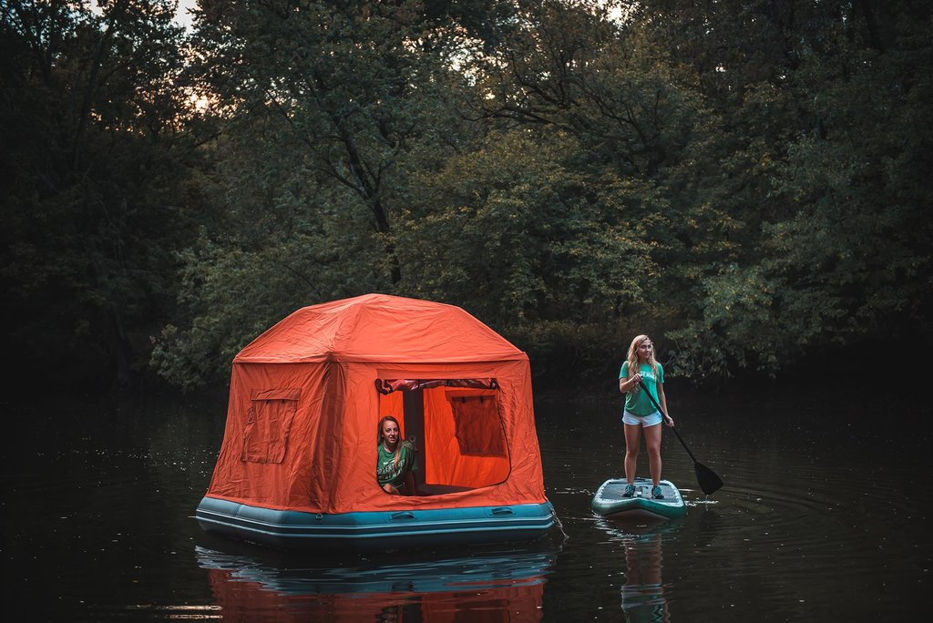 fun floating tent