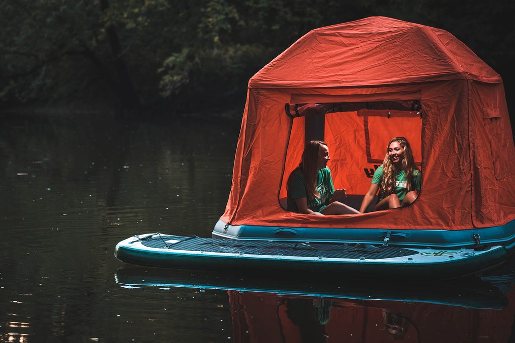 amazing floating tent