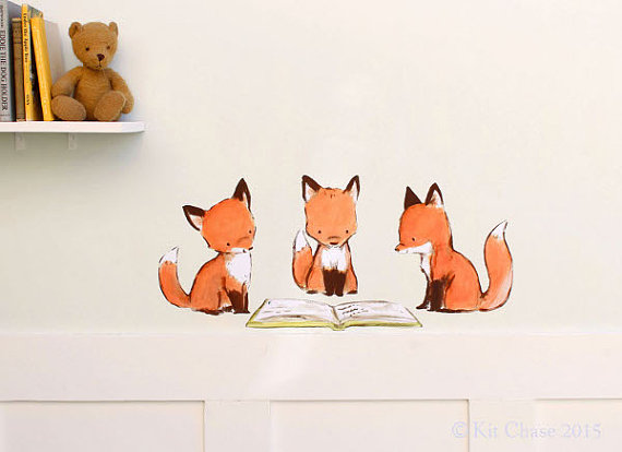 nursery fox wall art
