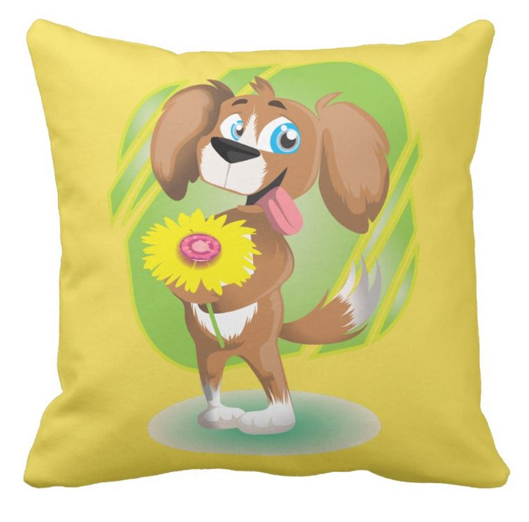 childs puppy cushion