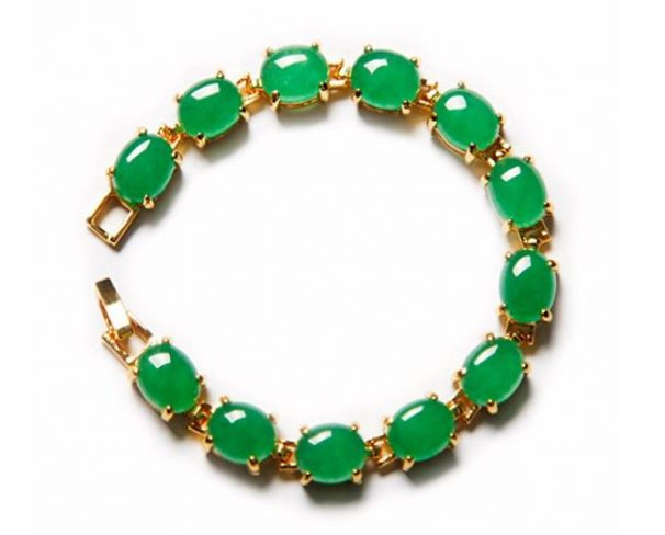 gold and jade bangle