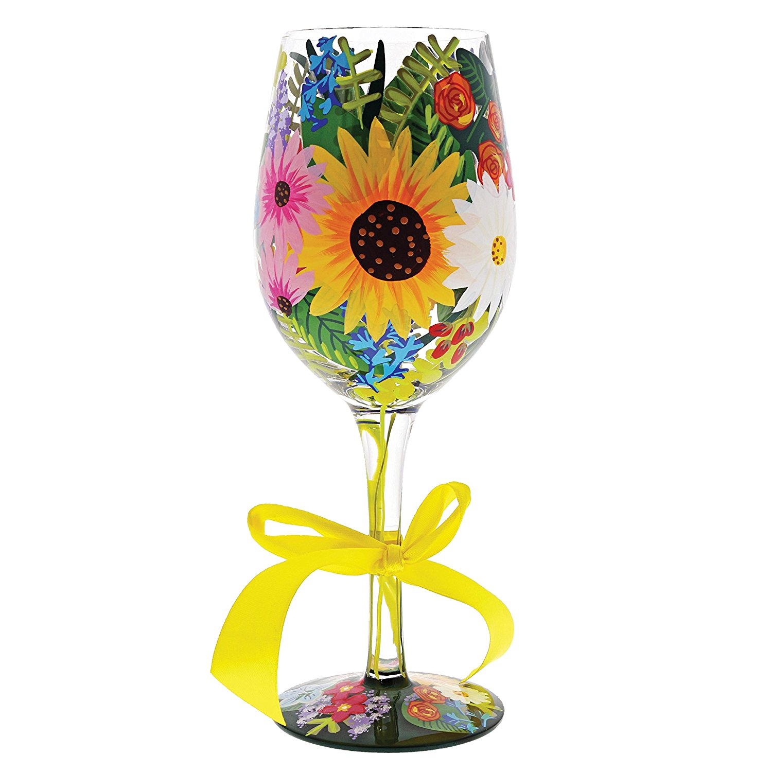 painted glassware floral