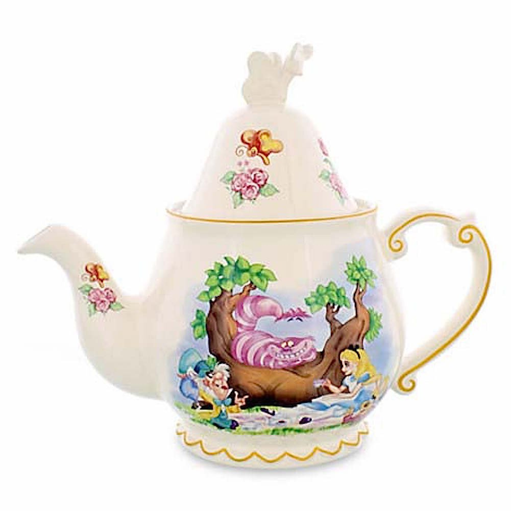 disney official alice in wonderland teapot