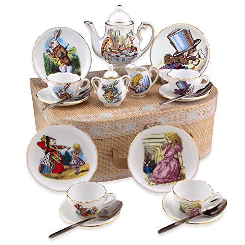 mini alice in wonderland tea set
