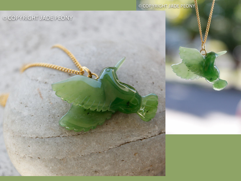 jade hummingbird necklace