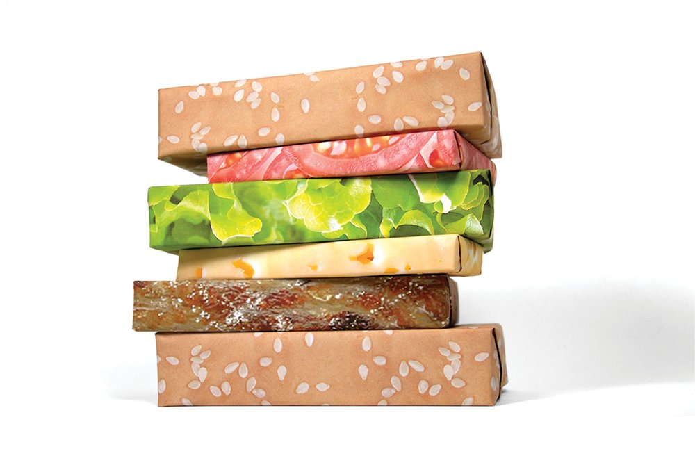 hamburger gift wrap