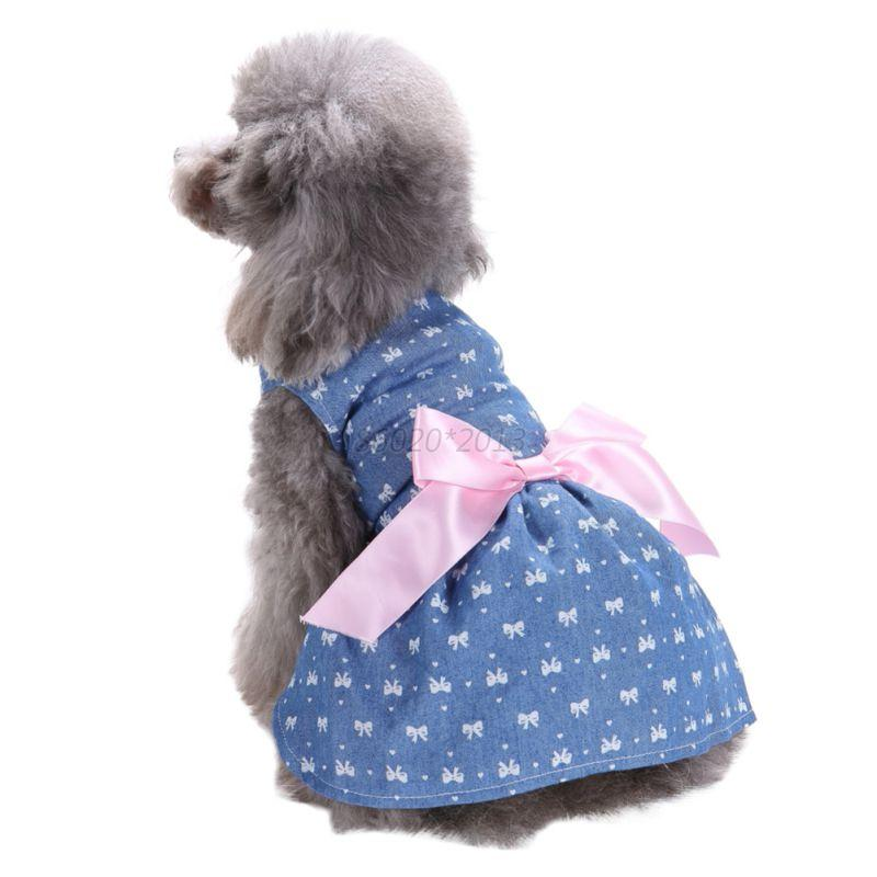 dog dress with bow