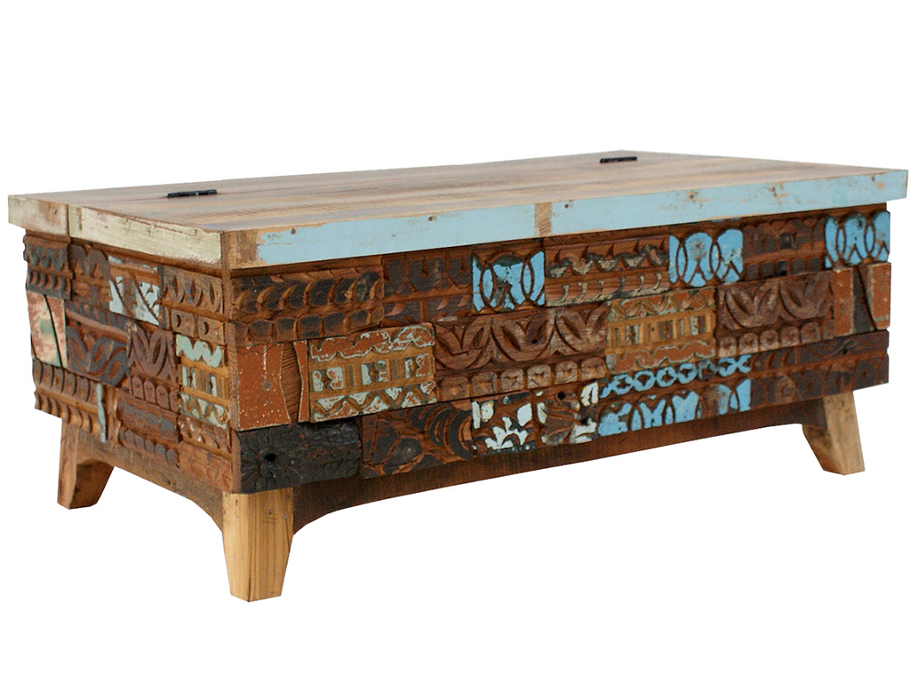 Unique Acacia And Mango Wood Coffee Table