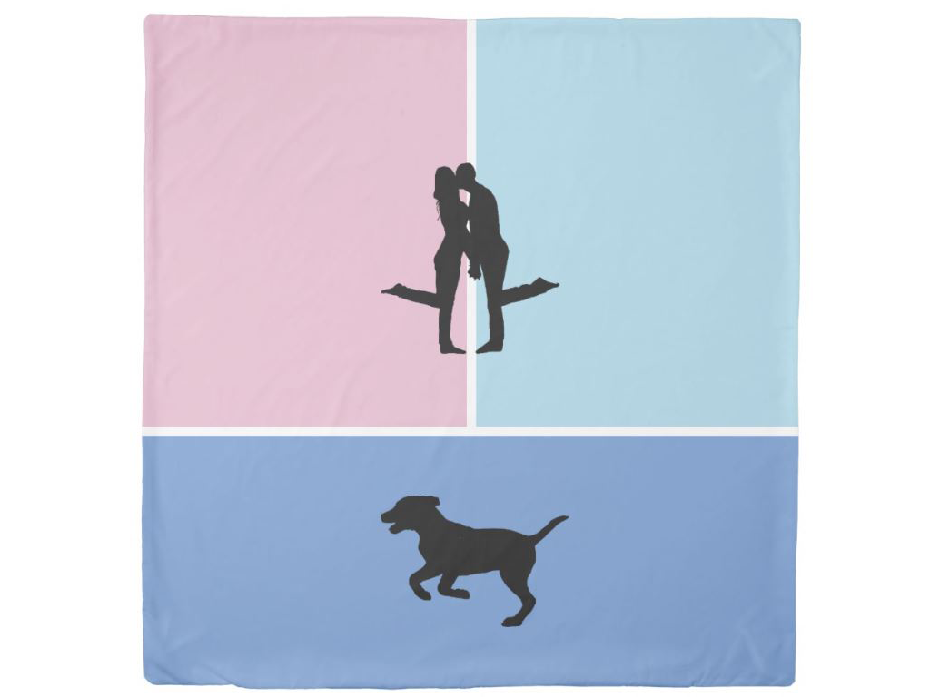 funny couples duvet cover