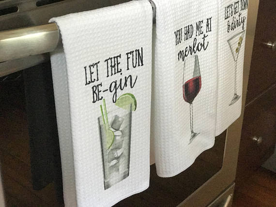 Cute and Funny Pun Bar Towels