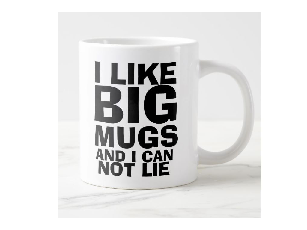 Comical Extra Large Ceramic Coffee Mug