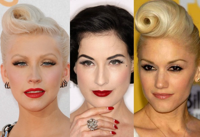 pin up style celebrities