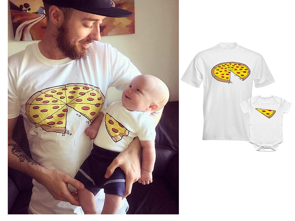 Father And Child Pizza Slice T-Shirts
