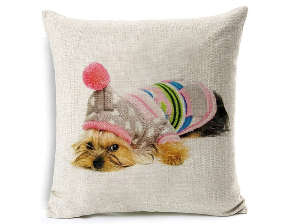 cute yorkie cushion