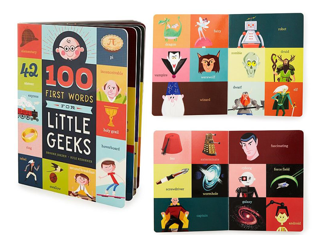 Children's Book 100 First Words For Little Geeks