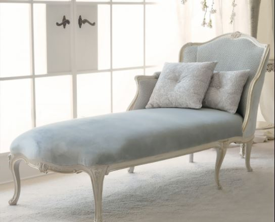 powder blue chaise