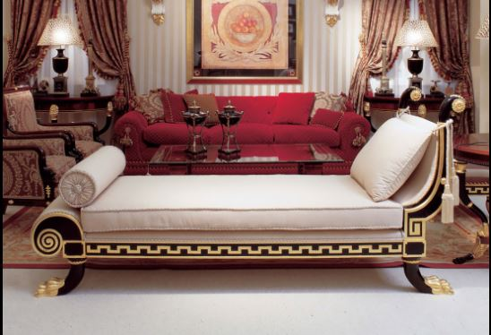 neoclassical chaise