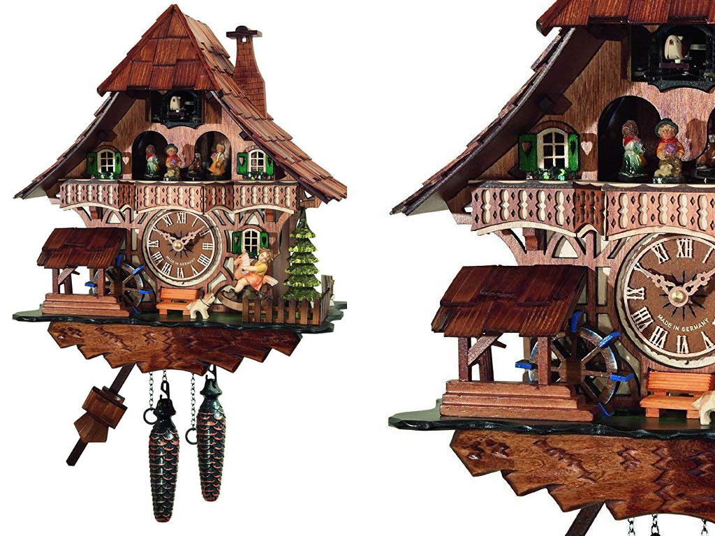 Traditional Style Black Forest Cuckoo Clock