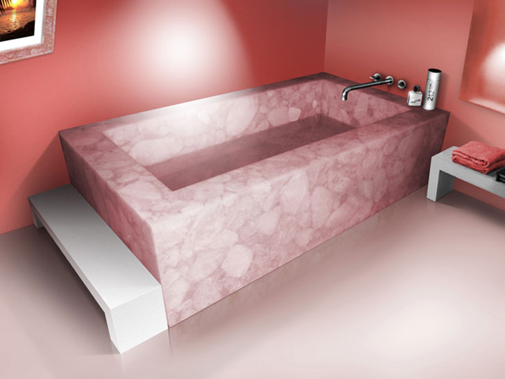 rose quartz bath