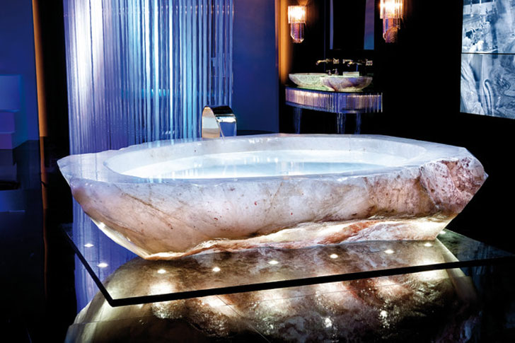 rock bathtub
