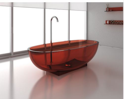colored bathtub