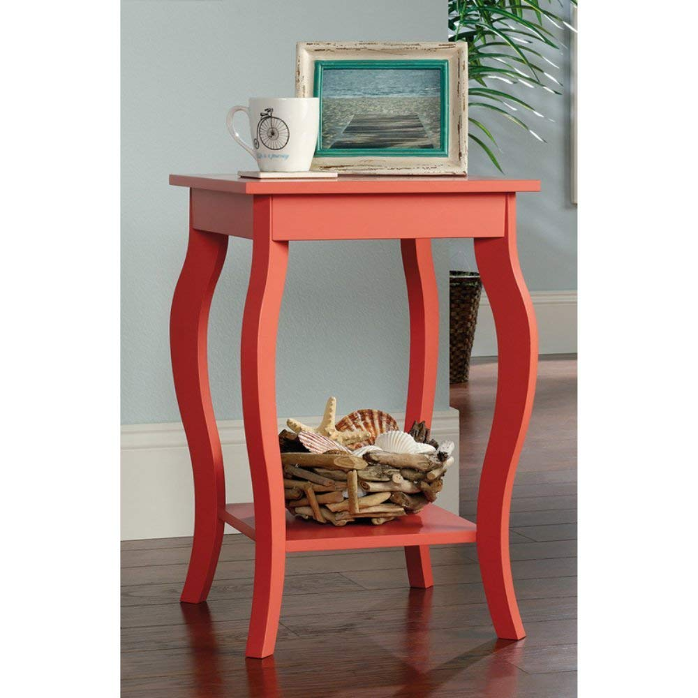 coral colored side table