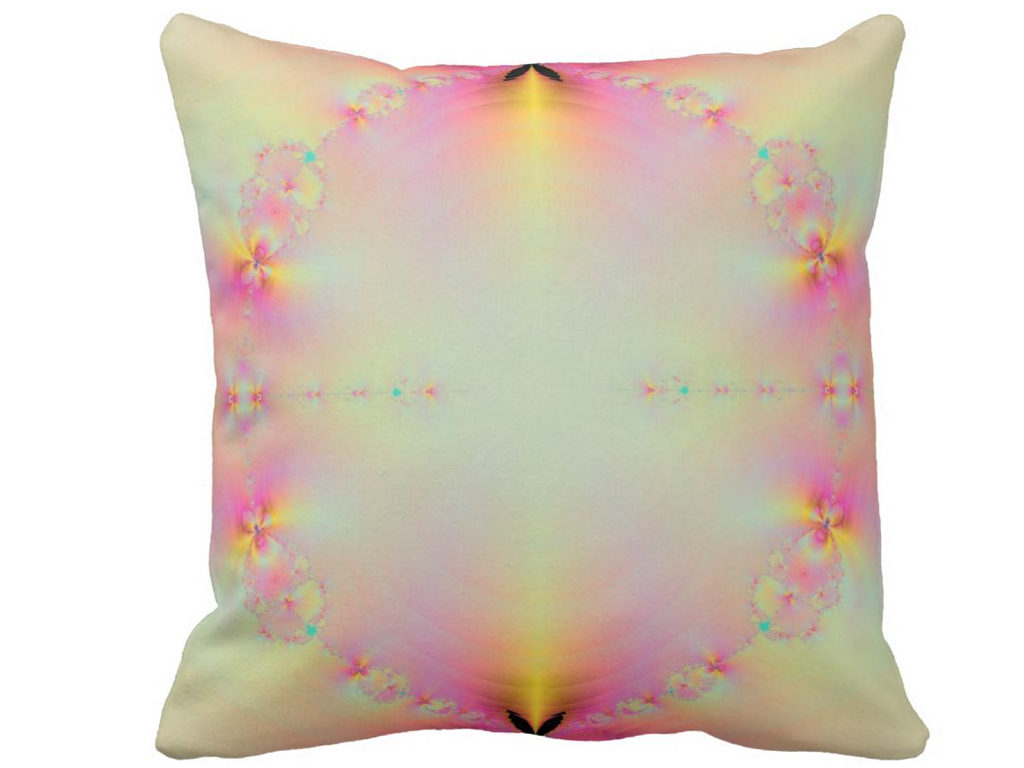 Sunrise In Paradise Digital Art Cushion