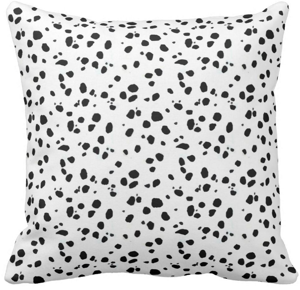 dalmation spots cushion