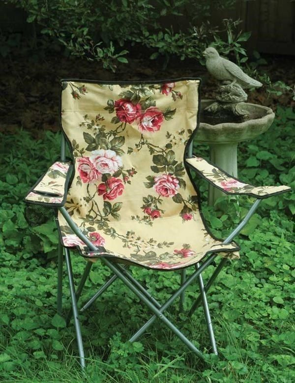 floral camping chair