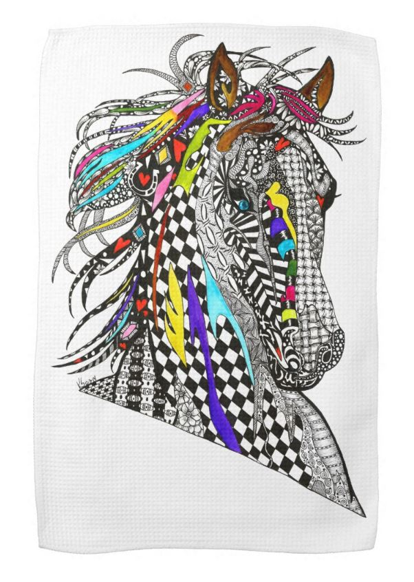 horse kitchen towel