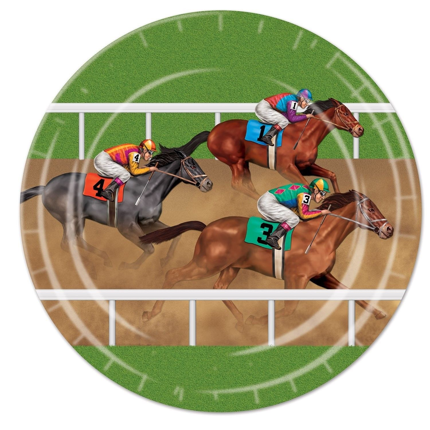horse racing paper plates