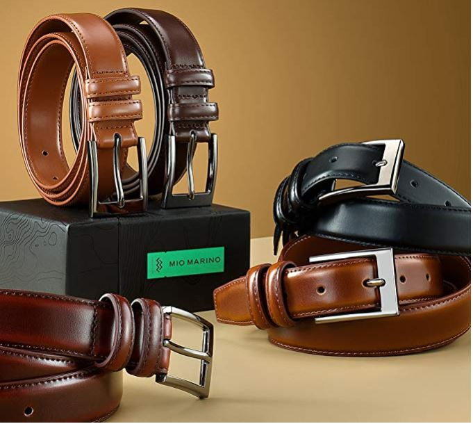 leather dress belt for men