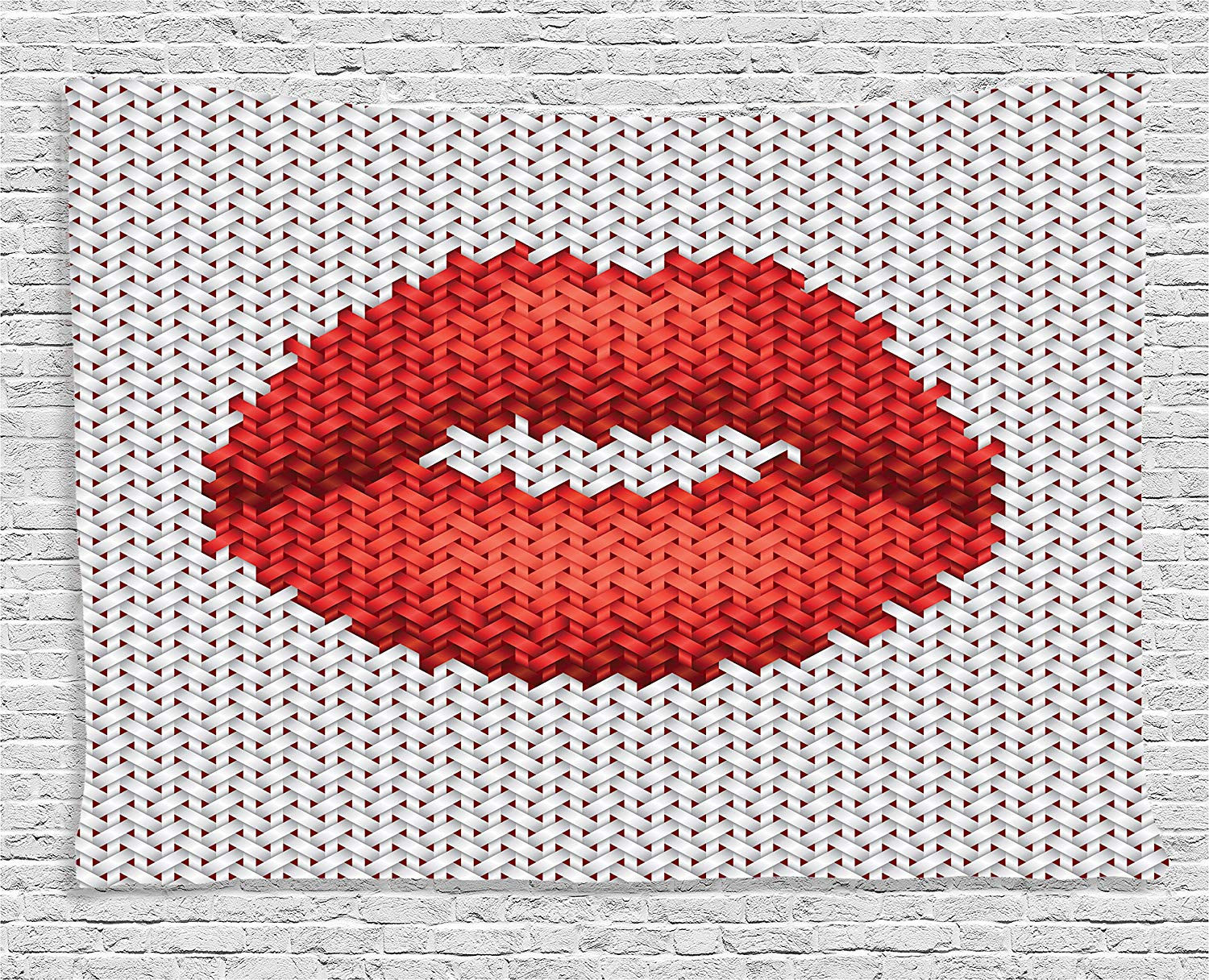 lips wall tapestry postmodern