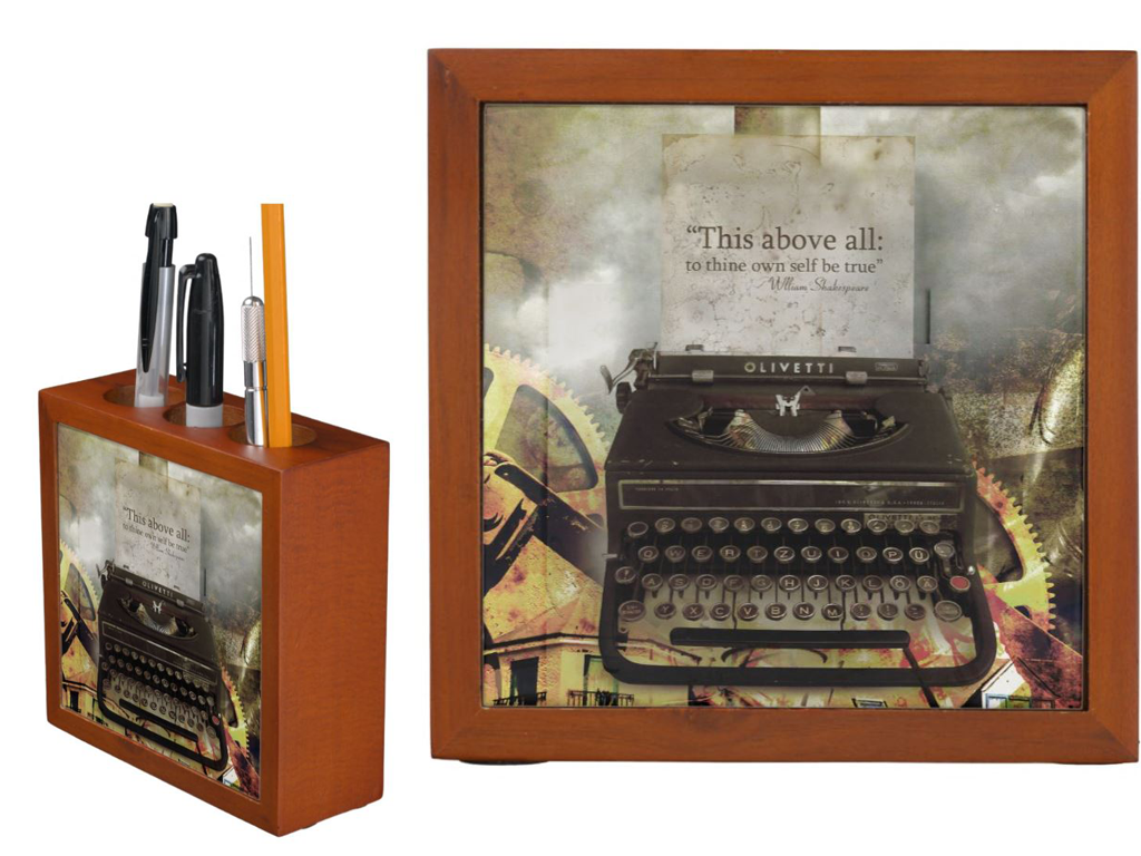 Typewriter Pencil Holders for and Old School Look