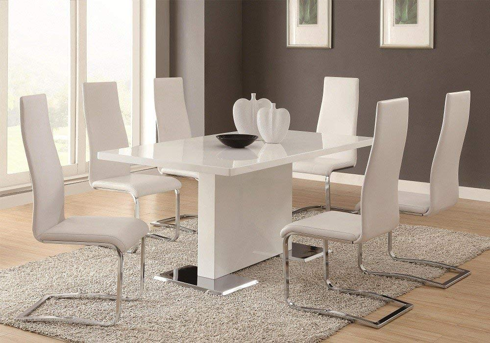 white minimalist dining table