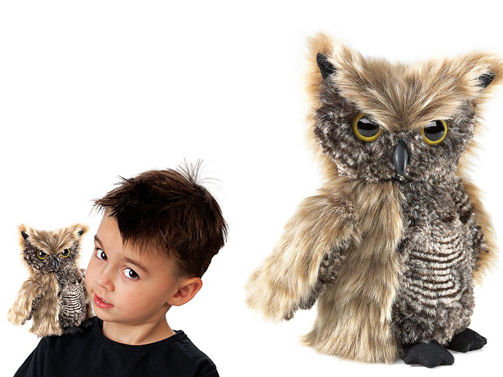 Award Winning Owl Puppet With Turning Head